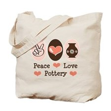 Peace Love Pottery Tote Bag