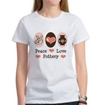 Peace Love Pottery Women's T-Shirt