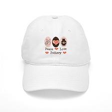 Peace Love Pottery Baseball Cap
