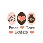 Peace Love Pottery Postcards (Package of 8)