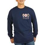 Peace Love Pottery Long Sleeve Dark T-Shirt