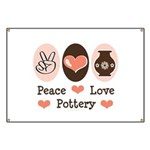 Peace Love Pottery Banner