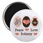 Peace Love Pottery Magnet