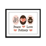 Peace Love Pottery Framed Panel Print