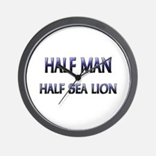Half Man Half Sea Lion Wall Clock