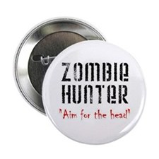 """Zombie Hunter 2.25"""" Button (10 pack)"""