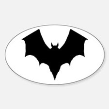 BLACK BAT Oval Decal