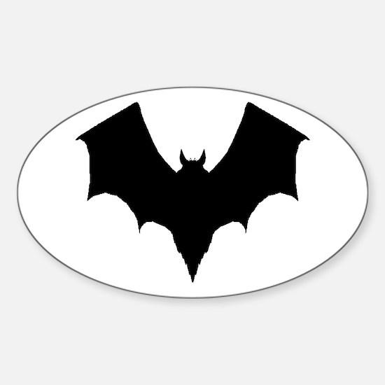 BLACK BAT Oval Decal