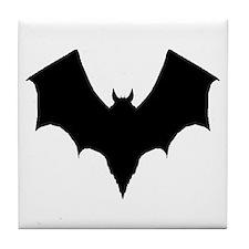 BLACK BAT Tile Coaster