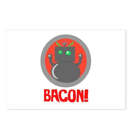 Robot Loves Bacon Postcards (Package of 8)