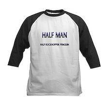 Half Man Half Rockhopper Penguin Tee