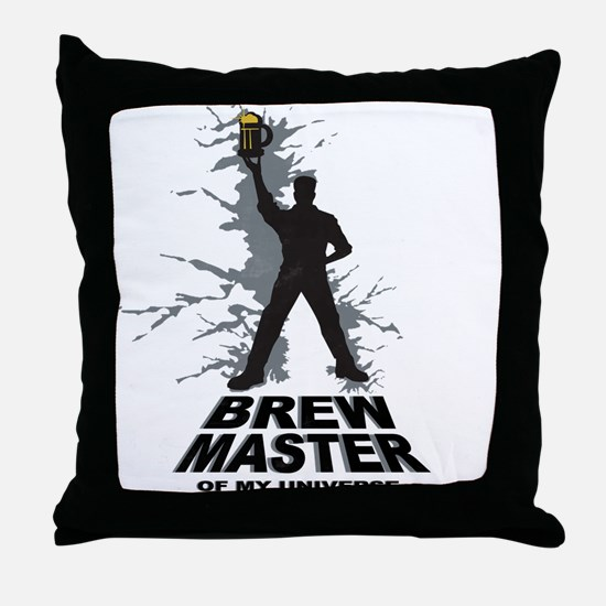 Cool Brewing beer Throw Pillow