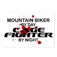 Mountain Biker Cage Fighter by Night Postcards (Pa