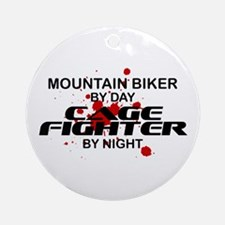 Mountain Biker Cage Fighter by Night Ornament (Rou
