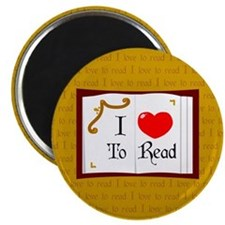 I Love To Read Magnet