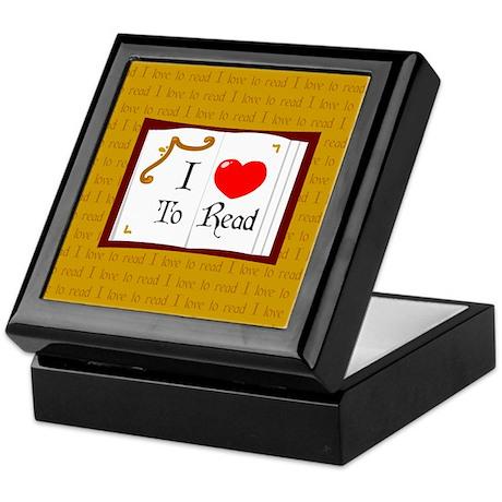 I Love To Read Keepsake Box