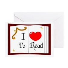 I Love To Read Greeting Card