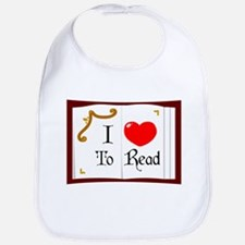 I Love To Read Bib