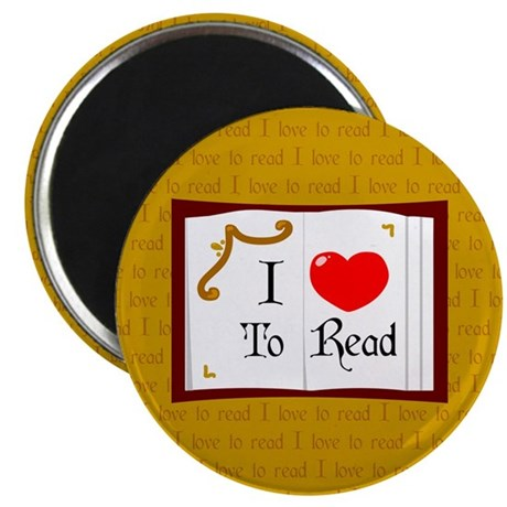 """I Love To Read 2.25"""" Magnet (10 pack)"""