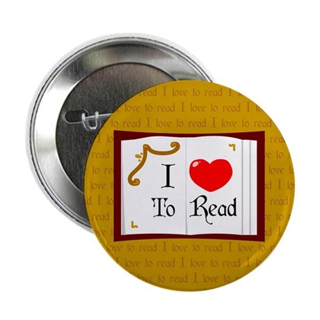 """I Love To Read 2.25"""" Button (10 pack)"""