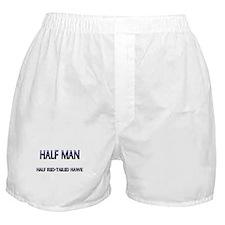 Half Man Half Red-Tailed Hawk Boxer Shorts