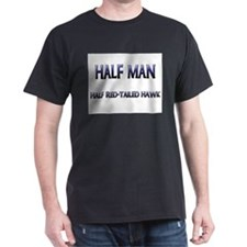 Half Man Half Red-Tailed Hawk T-Shirt