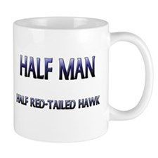 Half Man Half Red-Tailed Hawk Mug