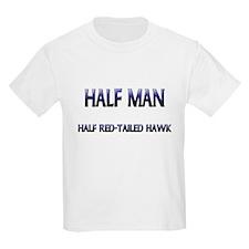Half Man Half Red-Tailed Hawk T-Shirt