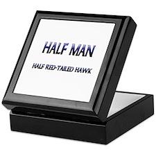 Half Man Half Red-Tailed Hawk Keepsake Box