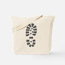 Hiking Boot Print Tote Bag