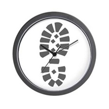 Hiking Boot Print Wall Clock