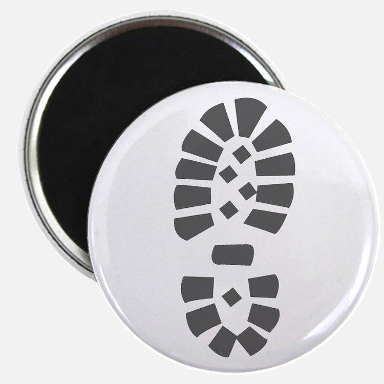 Hiking Boot Print Magnet