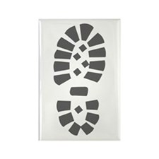 Hiking Boot Print Rectangle Magnet