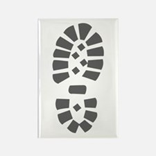 Hiking Boot Print Rectangle Magnet (10 pack)
