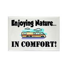 Enjoying Nature In Comfort Rectangle Magnet