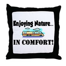 Enjoying Nature In Comfort Throw Pillow