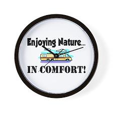 Enjoying Nature In Comfort Wall Clock