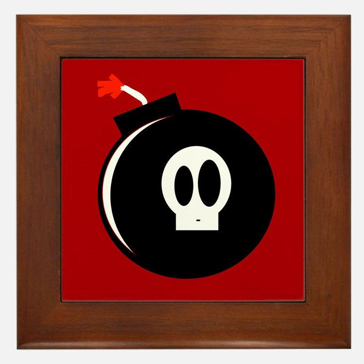 Submunition Cartoon Bomb Framed Tile