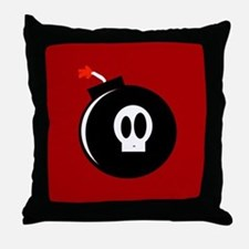 Submunition Cartoon Bomb Throw Pillow