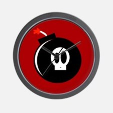 Submunition Cartoon Bomb Wall Clock