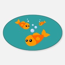 Cute Fish Oval Decal