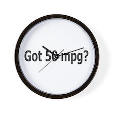 Got 50 mpg? Wall Clock