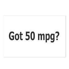 Got 50 mpg? Postcards (Package of 8)