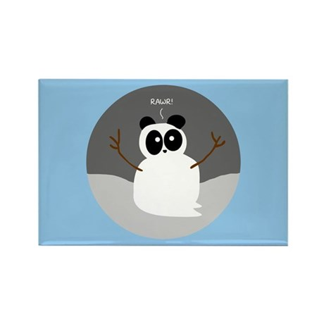 Snow Panda Rectangle Magnet (10 pack)