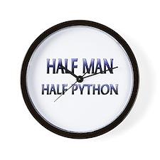 Half Man Half Python Wall Clock
