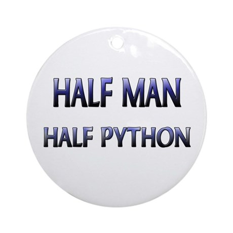 Half Man Half Python Ornament (Round)