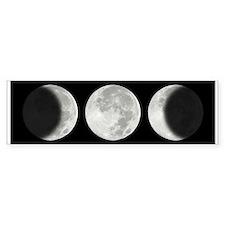 Three Phase Moon Bumper Car Sticker