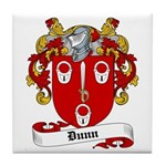 Dunn Family Crest Tile Coaster