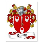 Dunne Family Crest Small Poster