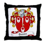 Dunne Family Crest Throw Pillow